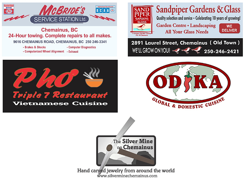 2016 Advertisers: Pho Restaurant, Odika Restaurant, McBrides Service Station, Sandpiper Gardens & Glass